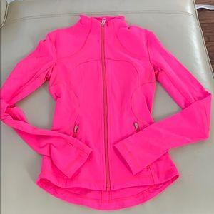 Neon pink lululemon for me jacket barely worn!